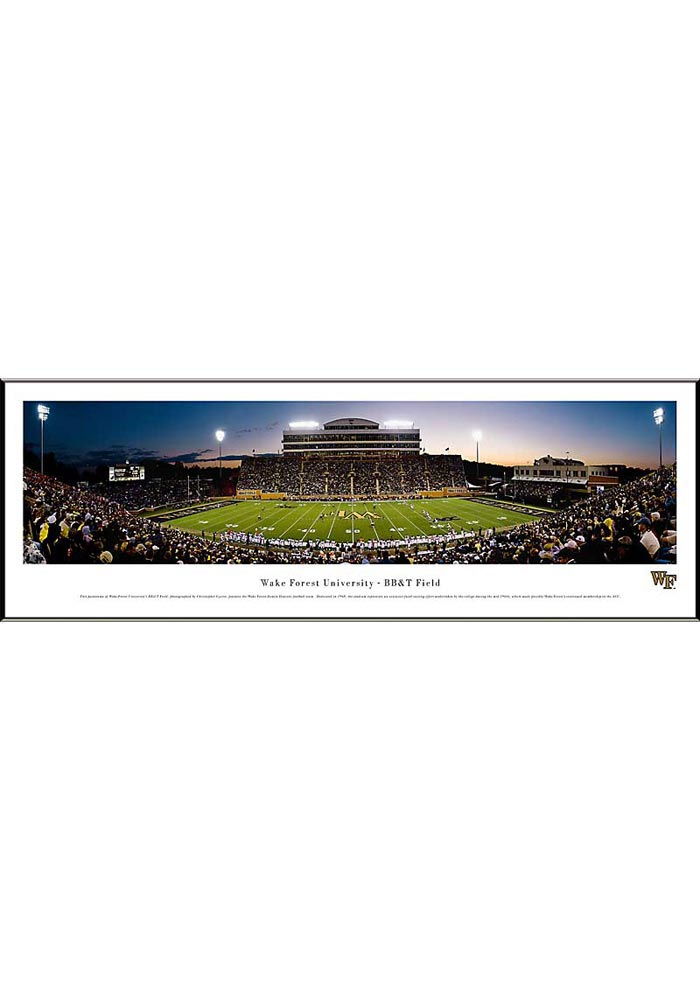 Wake Forest Demon Deacons Football Panorama Framed Posters - Image 1