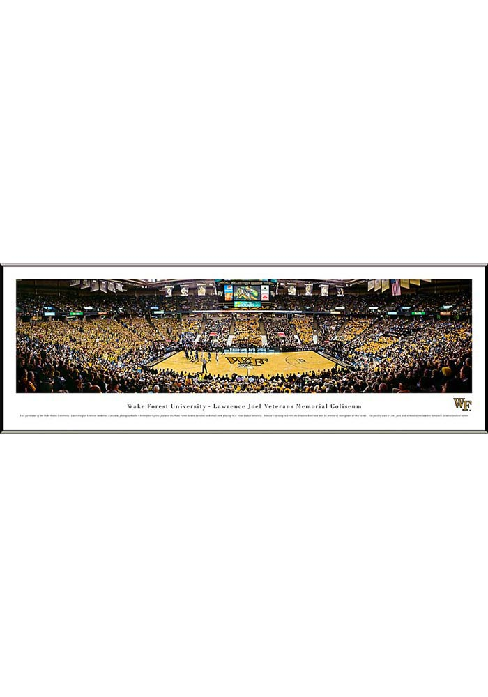 Wake Forest Demon Deacons Basketball Panorama Framed Posters - Image 1