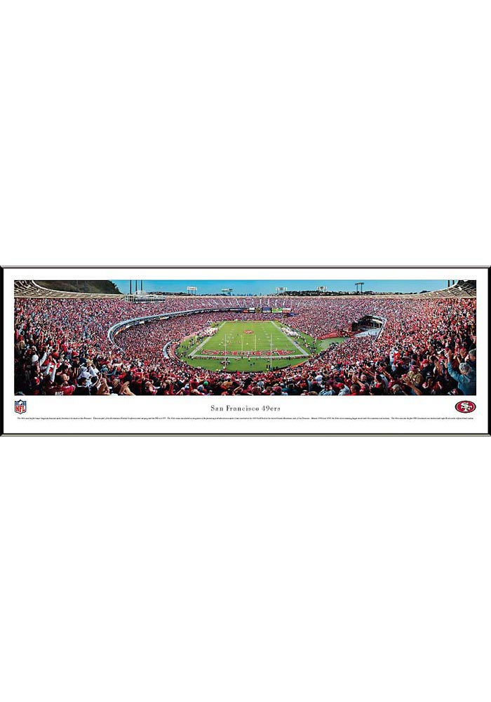 San Francisco 49ers End Zone Panorama Framed Posters - Image 1