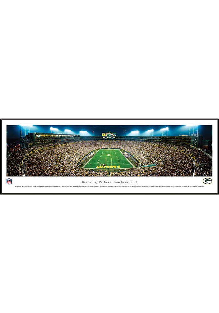 Green Bay Packers End Zone Panorama Framed Posters - Image 1