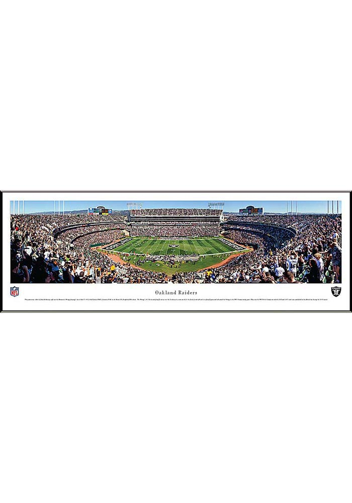 Oakland Raiders Football Panorama Framed Posters - Image 1