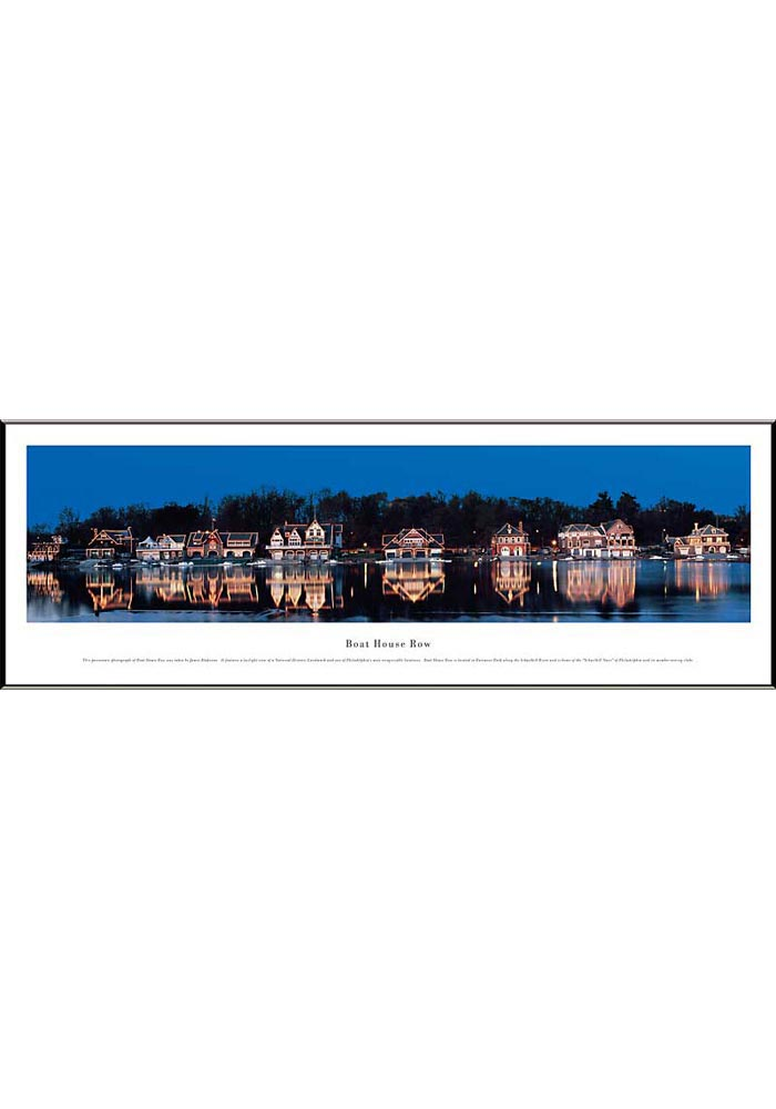 Boat House Row Panoramic Picture Framed Poster - Image 1