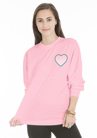 New Jersey Juniors Pink Football Long Sleeve T Shirt