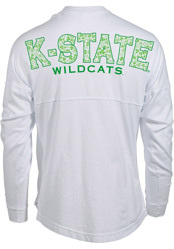 K-State Wildcats Womens Football White LS Tee