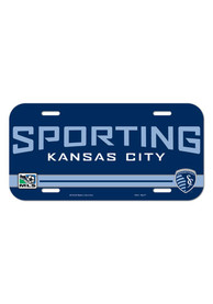 Sporting Kansas City Navy Plastic Car Accessory License Plate