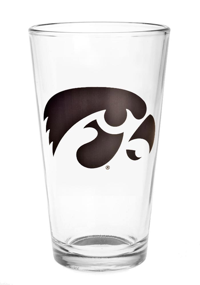 Iowa Hawkeyes 16oz Primary Logo Pint Glass - Image 1