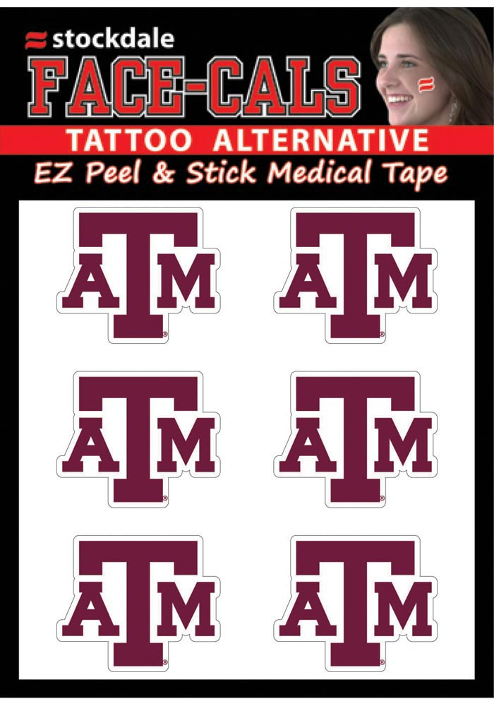 Texas A&M Aggies 6 Pack Tattoo - Image 1