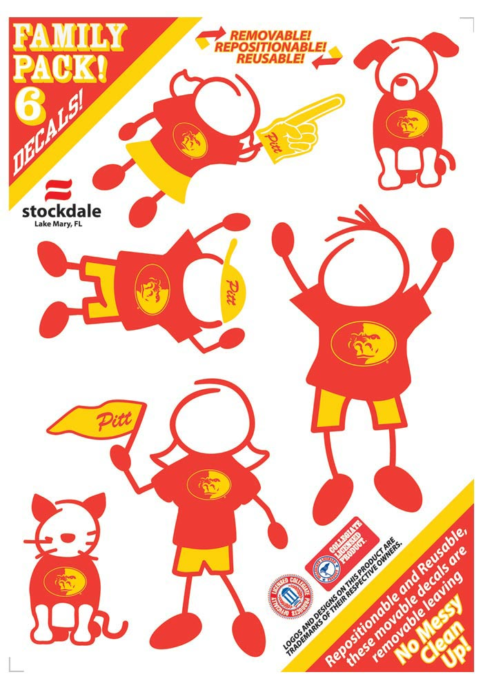 Pitt State Gorillas 5x7 Family Pack Decal - Image 1