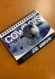 Dallas Cowboys Deluxe Hardcover Notebook/pen Notebooks and Folders