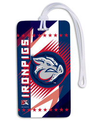 Lehigh Valley Ironpigs Team Logo Luggage Tag - Navy Blue