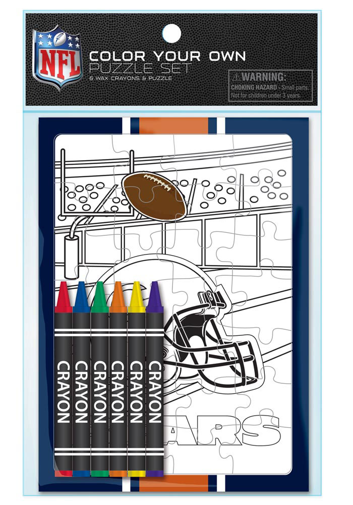 Chicago Bears Color Your Own Puzzle - Image 1