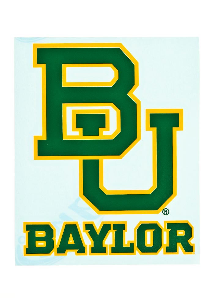 Baylor Bears 4.5x3.6 Vinyl Color Decal - Image 1