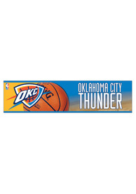 Oklahoma City Thunder 3x12 Bumper Sticker - Orange