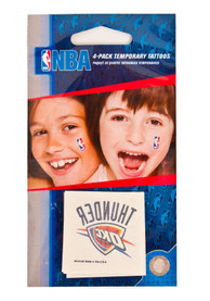 Oklahoma City Thunder 4 Pack Tattoo