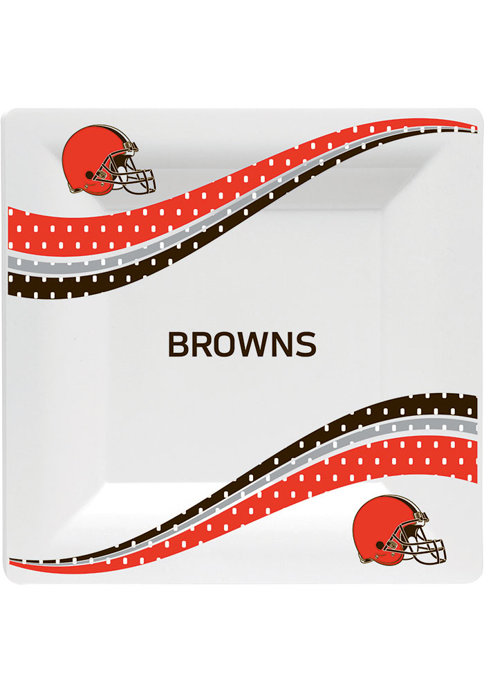 Cleveland Browns Jersey Collection 6.5 Paper Plates - Image 1