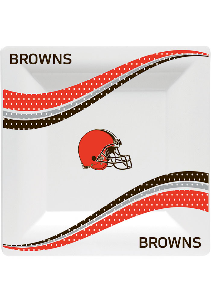 Cleveland Browns Jersey Collection 9.5g Paper Plates - Image 1