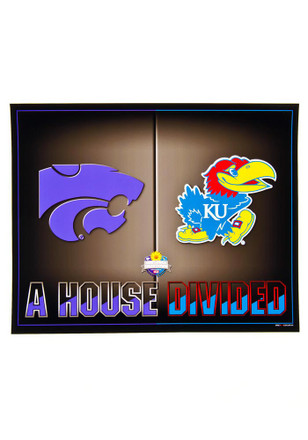 K-State Wildcats and Kansas Jayhawks 8X10 Unframed Poster