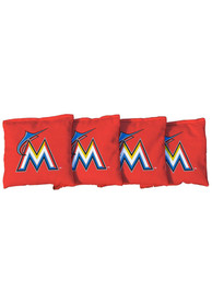 Miami Marlins All-Weather Cornhole Bags Tailgate Game