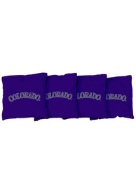 Colorado Rockies All-Weather Cornhole Bags Tailgate Game