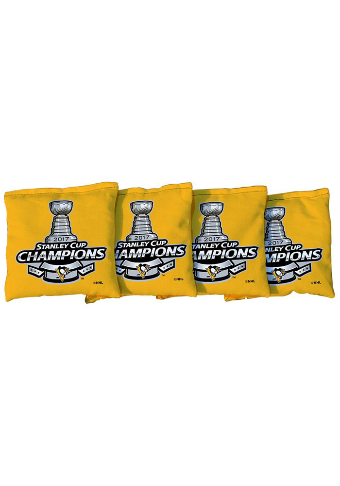 Pittsburgh Penguins Corn Filled Cornhole Bags Tailgate Game - Image 1