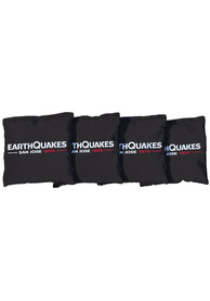 San Jose Earthquakes Corn Filled Cornhole Bags Tailgate Game