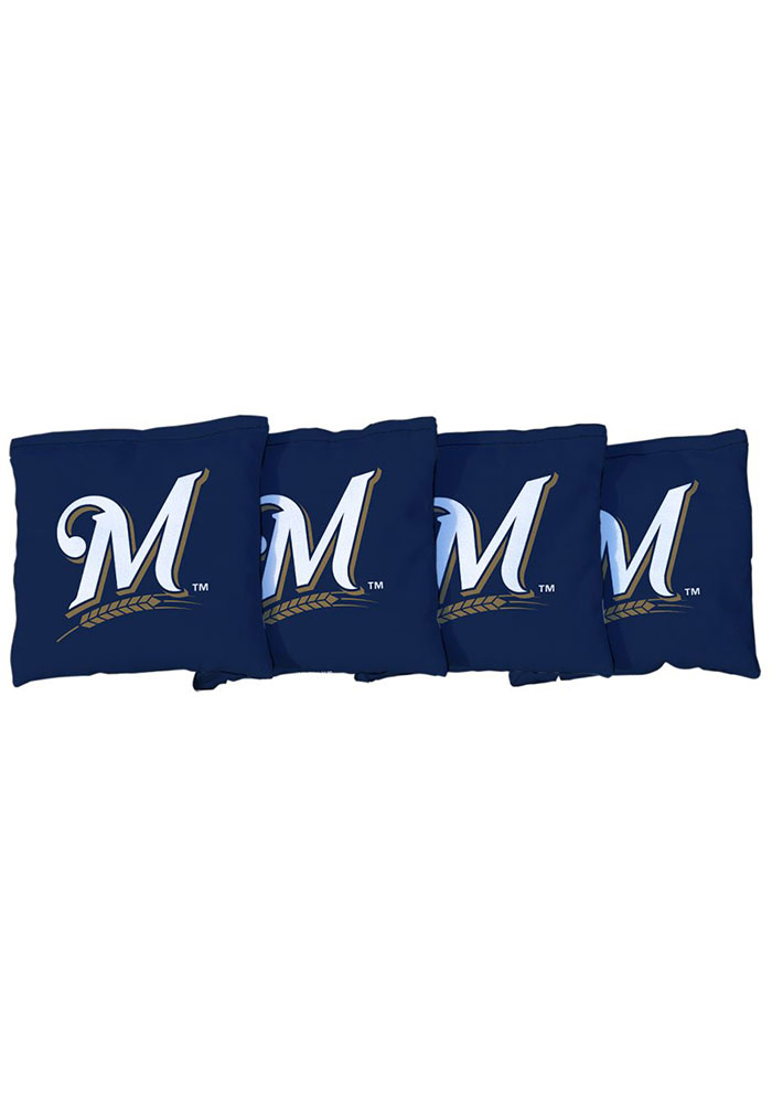 Milwaukee Brewers Corn Filled Cornhole Bags Tailgate Game - Image 1