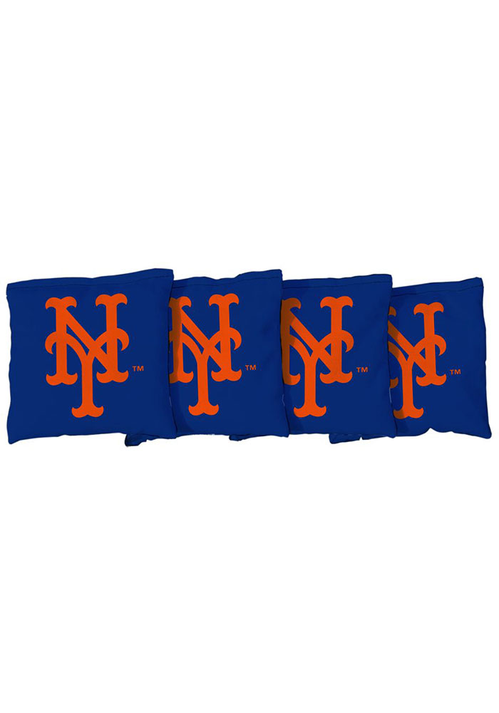 New York Mets Corn Filled Cornhole Bags Tailgate Game - Image 1