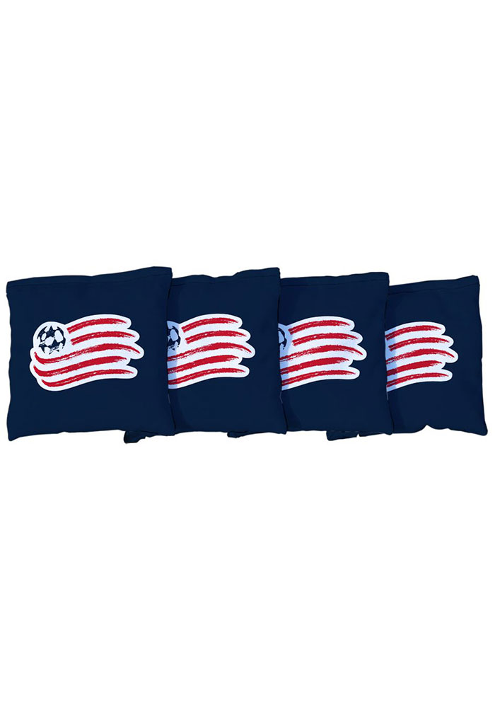 New England Revolution Corn Filled Cornhole Bags Tailgate Game - Image 1