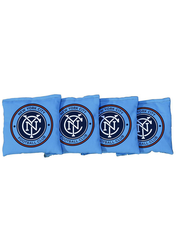New York City FC Corn Filled Cornhole Bags Tailgate Game - Image 1