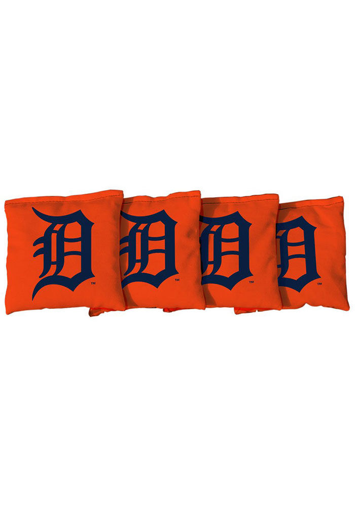 Detroit Tigers Corn Filled Cornhole Bags Tailgate Game - Image 1
