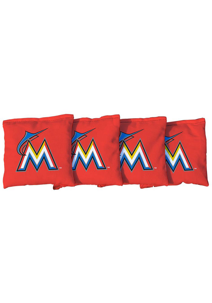 Miami Marlins Corn Filled Cornhole Bags Tailgate Game - Image 1