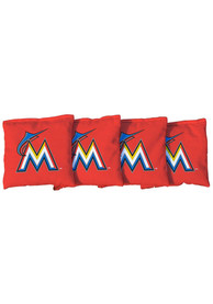 Miami Marlins Corn Filled Cornhole Bags Tailgate Game