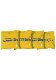 Golden State Warriors Corn Filled Cornhole Bags Tailgate Game
