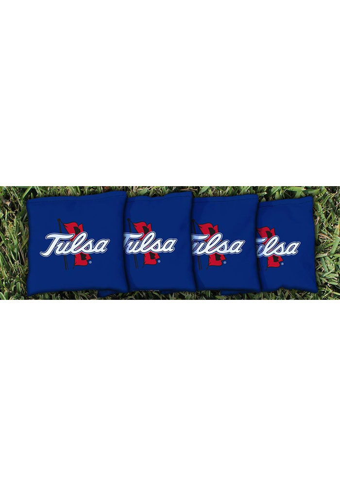 Tulsa Golden Hurricanes All-Weather Cornhole Bags Tailgate Game - Image 1