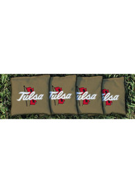 Tulsa Golden Hurricanes All-Weather Cornhole Bags Tailgate Game