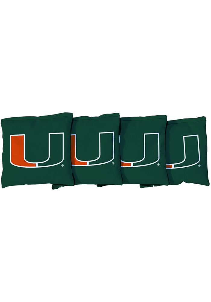 Miami Hurricanes All-Weather Cornhole Bags Tailgate Game - Image 1