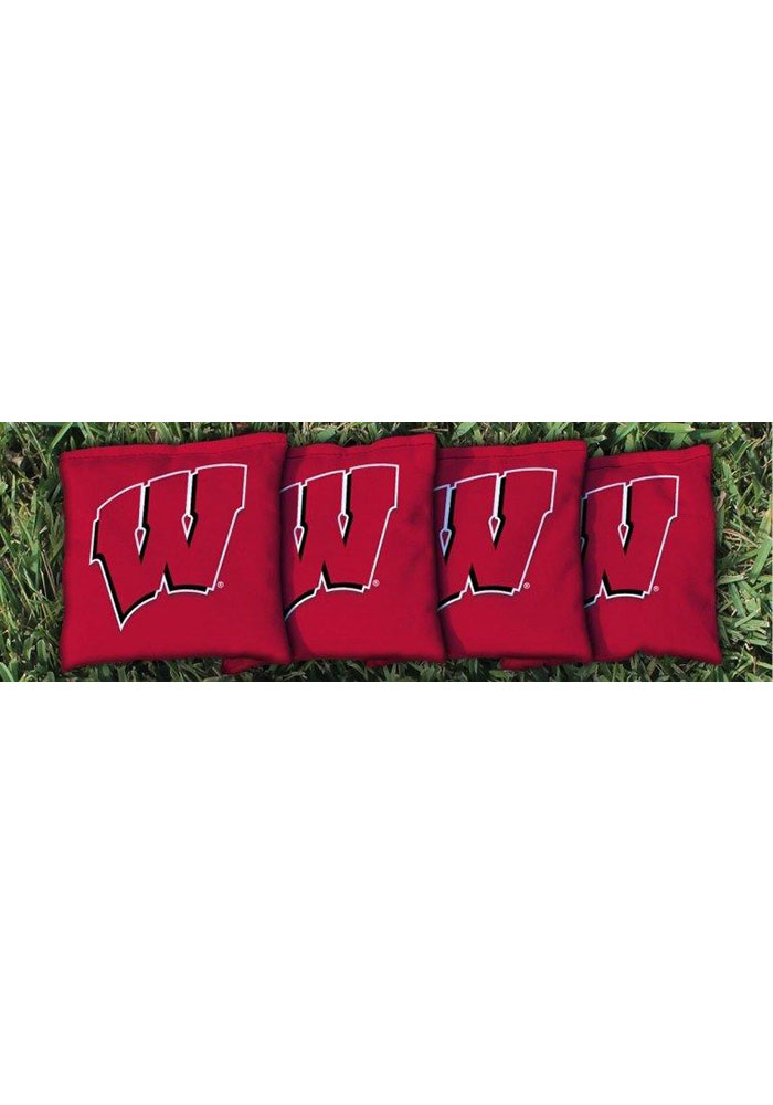 Wisconsin Badgers All-Weather Cornhole Bags Tailgate Game - Image 1