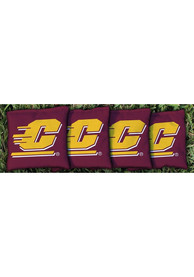 Central Michigan Chippewas Corn Filled Cornhole Bags Tailgate Game