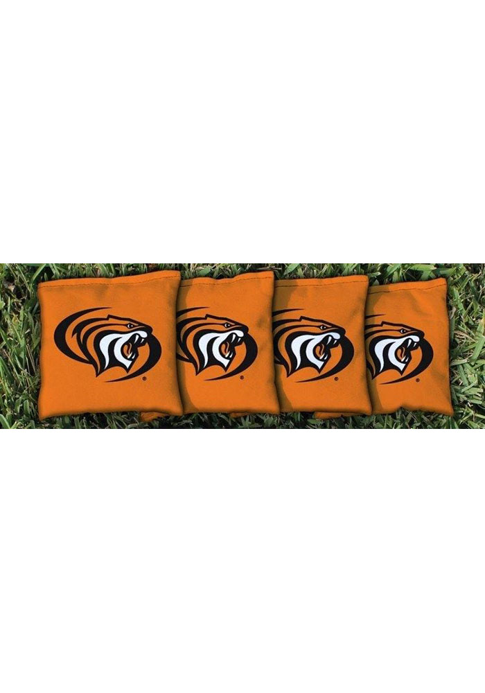 Pacific Tigers Corn Filled Cornhole Bags Tailgate Game - Image 1
