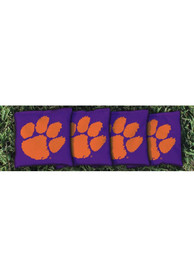 Clemson Tigers Corn Filled Cornhole Bags Tailgate Game