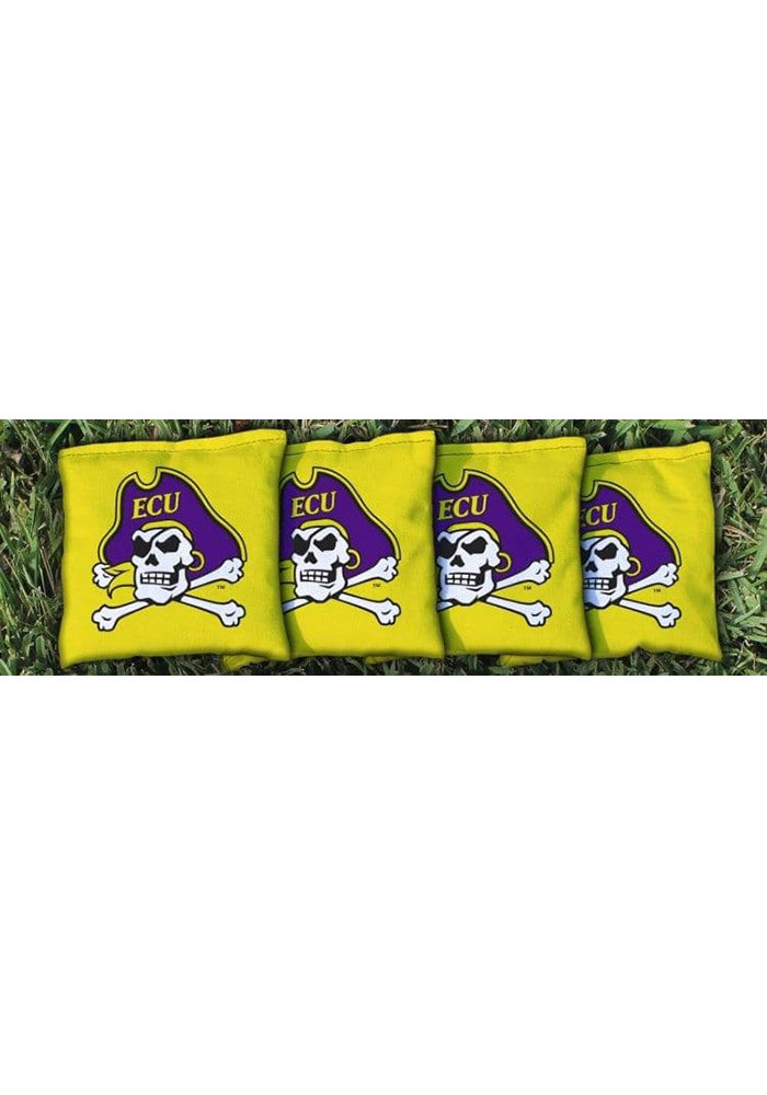 East Carolina Pirates Corn Filled Cornhole Bags Tailgate Game - Image 1