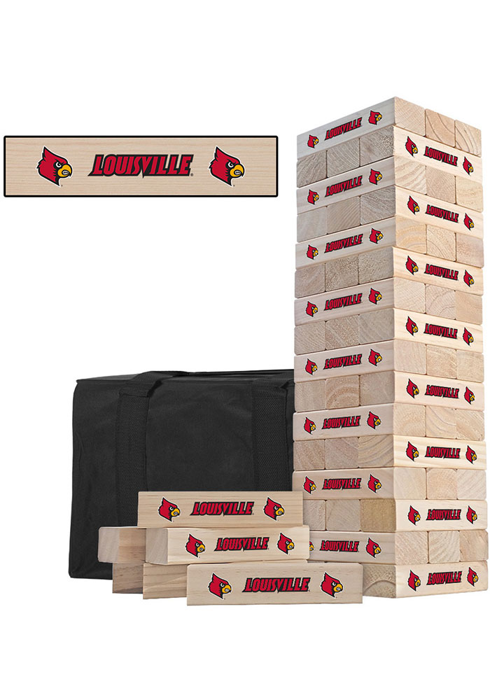 Louisville Cardinals Tumble Tower Tailgate Game - Image 1