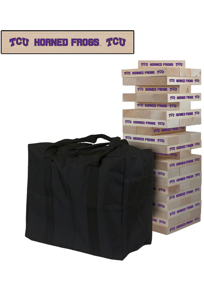 TCU Horned Frogs Giant Tumble Tower Tailgate Game - Image 1