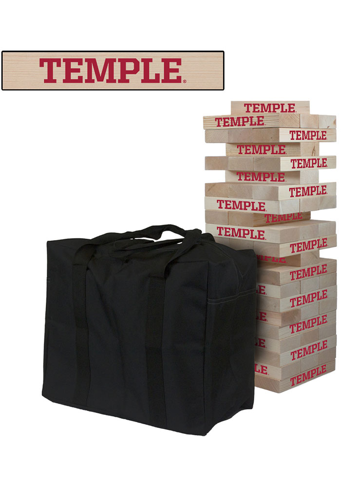 Temple Owls Giant Tumble Tower Tailgate Game - Image 1
