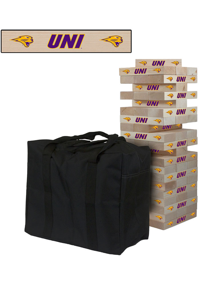 Northern Iowa Panthers Giant Tumble Tower Tailgate Game - Image 1