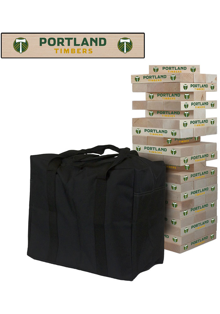 Portland Timbers Giant Tumble Tower Tailgate Game - Image 1