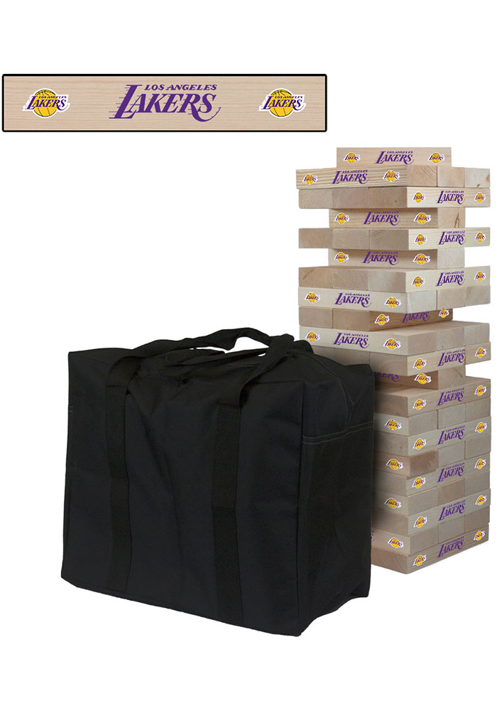 Los Angeles Lakers Giant Tumble Tower Tailgate Game - Image 1