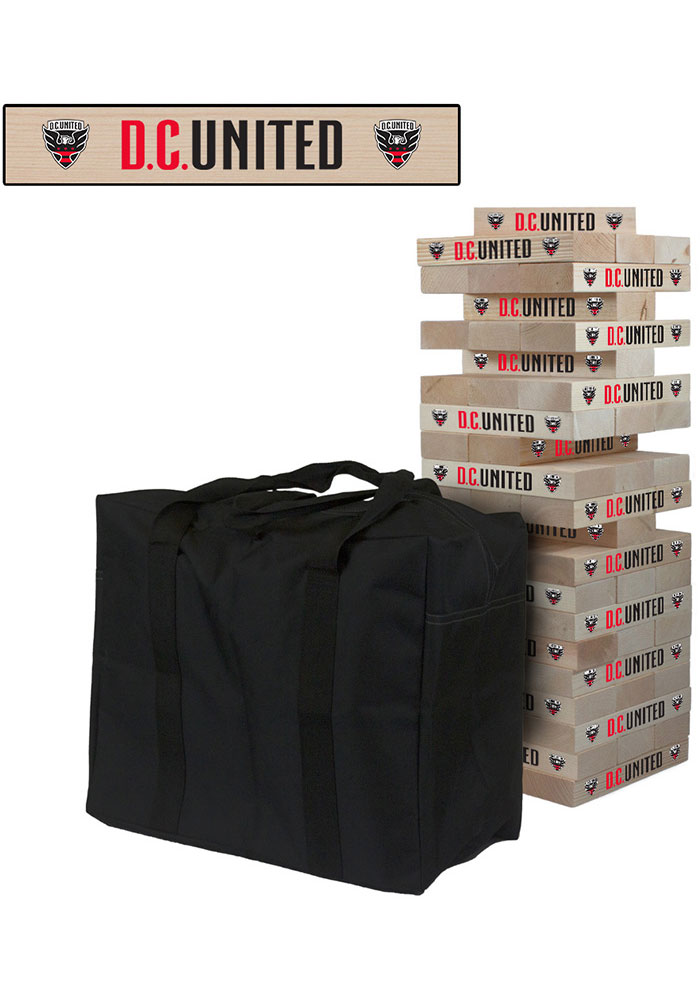 DC United Giant Tumble Tower Tailgate Game - Image 1