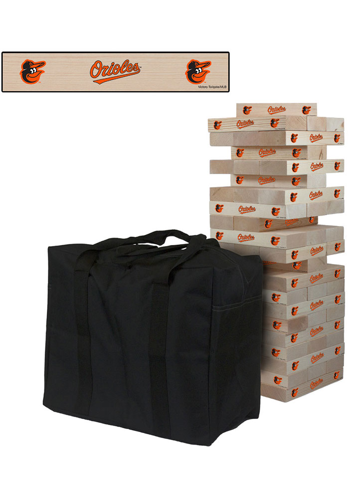 Baltimore Orioles Giant Tumble Tower Tailgate Game - Image 1