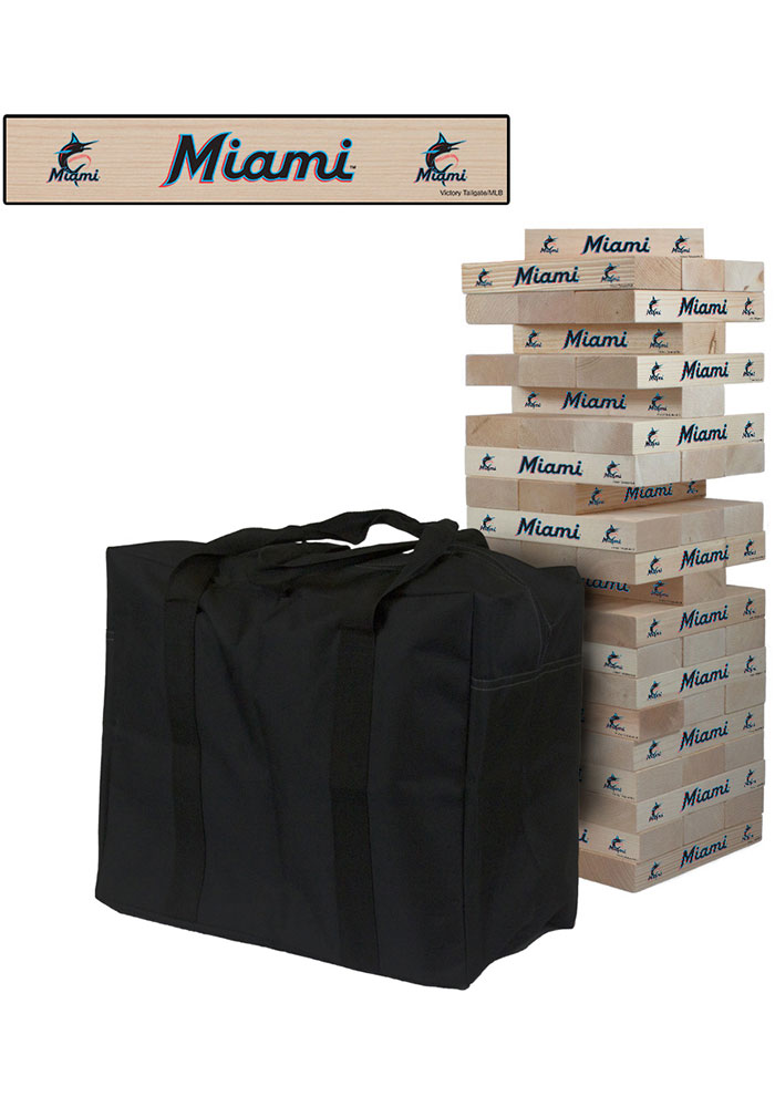 Miami Marlins Giant Tumble Tower Tailgate Game - Image 1